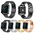 Stainless Steel Folding Clasp Watch Wrist band Strap + Frame For Fitbit Blaze