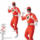 Adult Mighty Morphin Red Power Ranger Fancy Dress Costume 2nd Skin Body Suit New