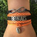 Cincinnati Bengals Football Bracelet - Shipped from California