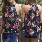 New Women Summer Floral Print Vest Sleeveless Blouse Casual Tank Tops T Shirt