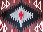 """Indian Rug Weaving, Navajo - Exc Condition - 22"""" x 30"""" (gry bge red brown blk )"""