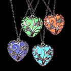 Fashion Magical Fairy Glow in the Dark Pendant Locket Heart Necklace Luminous