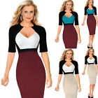Office Women Casual Half Sleeve Wear to Work Business Party Bodycon Pencil Dress