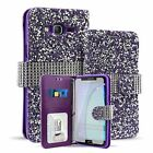 Luxury Crystal Rhinestones Diamond Wallet Flip Card Case For Samsung Galaxy On5