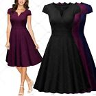 Women Vintage Cocktail Evening Party Formal Business Work A-Line Casual Dresses