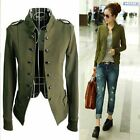 2016 Fashion Women Double Breasted Casual Jacket Epaulet Long Sleeves Coat TOPS