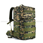 55L Outdoor Tactical Large Molle Military Rucksack Backpack Camping Trekking Bag