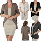 FashionCatch Women's Open Front Light Weight Cardigan with Pockets