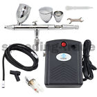 OPHIR Pro Mini 0.5mm Dual Action Airbrush Air Compressor Kit for Body Cake Paint