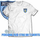 Stag Do T-Shirts Printed Stag Night T-Shirts, Change Print Colours, Groom Name