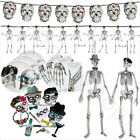 Halloween Skeleton Skull Crew Party Tableware Set Decorations Photo Set Bunting