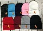 PIZZA Embroidered Beanie Cuffed Cap - Many Colors