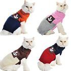 Sweater for Cat Sweater Turtle Neck Pet Jumper Anchor 4 Colors  XS S M L XL