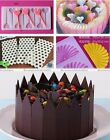 1pc Silicone Fondant Cake Mould Chocolate Fence Picks Candy Mold S3