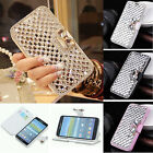 New Bling Crystal Diamond Stand Leather Case Cover For Samsung Galaxy Note Edge
