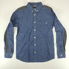 Carhartt New Long Sleeve Bergen Shirt Blue Rinsed size S