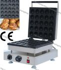 Commercial Nonstick Electric 25pcs Donut Ball Waffle Maker Iron Baker Machine