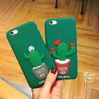 Cute Hot cactus Potted plants Shockproof soft Case cover for iphone 6 6S 7 plus