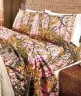 The Woods Sheet Set Twin Full Queen King Pink Camo NEW