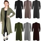 Ladies Women Plain Long Sleeves Cardi Baggy Boyfriend Maxi Open Cardigan Hijab