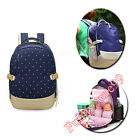 Fashion Double Shoulder Backpack Mummy Mother Baby Diaper Nappy Milk Bag Carrier