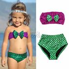 Fashion Mermaid Kids Baby Girl Princess Swimsuit Swimwear Bikini Sequins Summer
