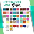 "Glitter Heat Transfer Vinyl Many sizes 10"" x 5 Yards :)"