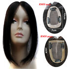 """2.7''x3.9"""" Base Human Hair Topper Hairpiece Silk Top Women Toupee With Clips 12'"""