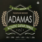 Adamas Akustik Gitarre Phosphor Bronze Saiten SATZ Acoustic Guitar Strings SET for sale
