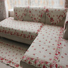 Retro Cotton Window Floor Mat Rug Runner Sofa Couch Throw Carpet Rose Ruffle Red