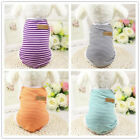 Cotton Breathable Small Dog T-shirts Stripped Puppy Sports Clothes 6 Colors