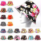 BestSell Lady Bucket Hat Flower Floral Hunting Summer Fishing Outdoor Cap Unisex