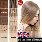 Standard One Piece Clip In Remy Human Hair Extension 3/4 Full Head UK Cheap H061