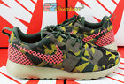 NIKE WMNS ROSHE ONE PREM PLUS DESERT CAMO HOT LAVA GRN 807614-083 NEW SIZE 7