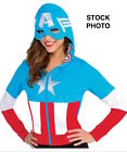 MARVEL AMERICAN DREAM HOODIE HALLOWEEN COSTUME ADULT SM/MED LG/XLG NEW
