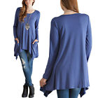 Kyпить New Women's Loose Long Sleeve Cotton Casual Blouse Shirt Tops Fashion T-shirt на еВаy.соm