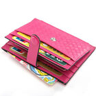 Women Real Leather Braided Small Wallet Card Holder Zip Coin Purse Clutch