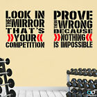 2 Pro Gym Lifestyle Motivational Wall Decal Quotes Great Savings!,Look Prove