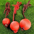 Solid Rubber Ball Dog Chew Toys Rope Handle for Puppy Pet Play Chewing Training