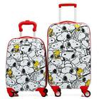 """New Cute Snoopy Peanuts 18"""" or20"""" Kid's Girls Hard Side Luggage Trolley Carry On"""
