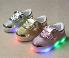 Cool Kids Boys Girls LED Shoes light up Sneaker Stars Trainer Casual Sport Shoes