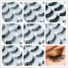 5 Pairs Natural Thick Fake Cross False Eyelashes Eye Lash 18 Style Handmade 002c