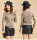Fashion Women's Cashmere Sweater Pullovers Knitted Sweater Large Size S-XXXL