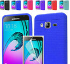 Film LCD+Rug Silicon Case Cover For Samsung Galaxy J3 2016/Sol/Amp/Express Prime
