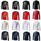 Kyпить New Men's Fashion Casual Slim Fit Crew-neck Long Sleeve Tops Tee T-shirt на еВаy.соm