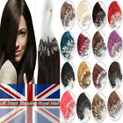 Micro Ring Beads Loop Tip Remy Human Hair Extensions 1g 0.5g/s 16''-26'' UK Ship