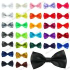 New Satin Mens Pre Tied Fancy Plain Necktie tie Bow ties -Wedding Party Prom $1.31 CAD on eBay
