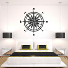 Compass Rose Vinyl Wall or Ceiling Decal - fits living room, bedroom + more K652