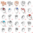 Fashion Women Silver Plated Jewelry Filled Wedding Engagement Wedding Ring