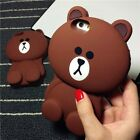 New 3D Disney Line Brown Bear Silicone Soft Case Cover for iPhone 6 Plus 5S /4s
